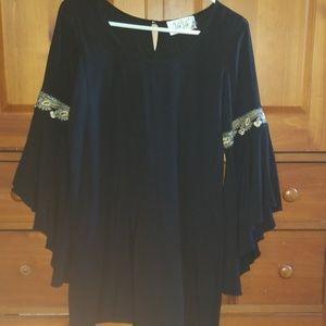 VaVa black tunic dress by Joy Han small USA